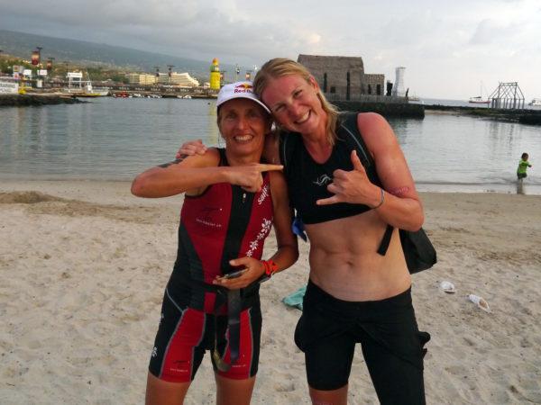 IRONMAN Hawaii 2016 – Zusammen Nach Dem Rennen Mit Der Queen Of Kona Natascha Badmann