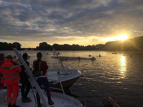 IRONMAN Hamburg 2017 – Tolle Atmosphäre Beim Schwimmstart