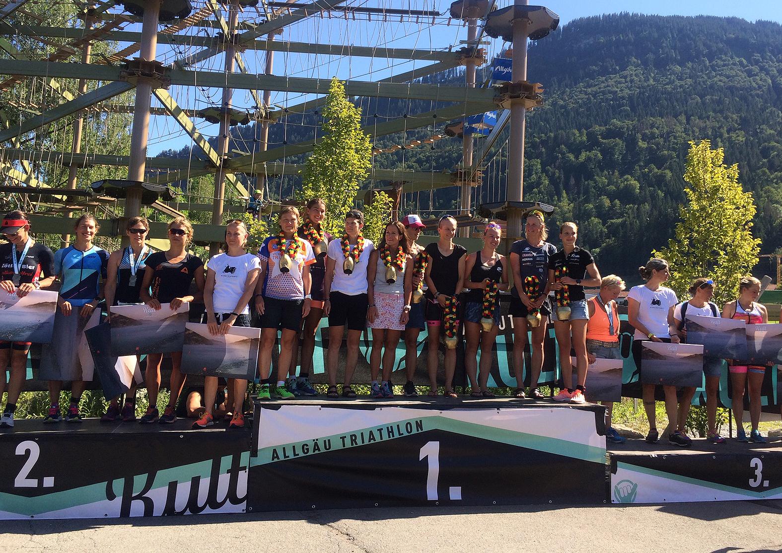 Allgäu-Triathlon 2019 – Siegerehrung Olympische Distanz