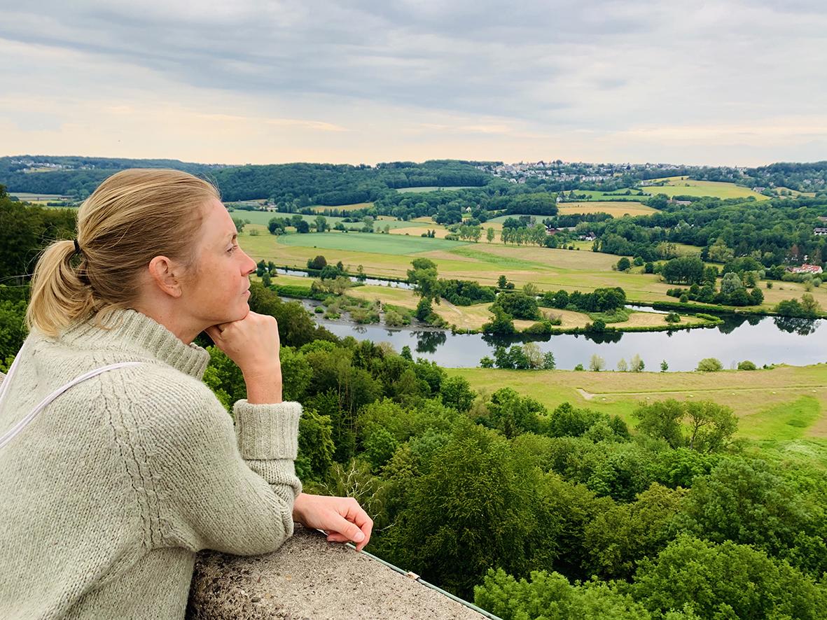 Laufabenteuer Ruhrtalradweg – Blick Von Burg Blankenstein In Hattingen Nach Dem Lauftag